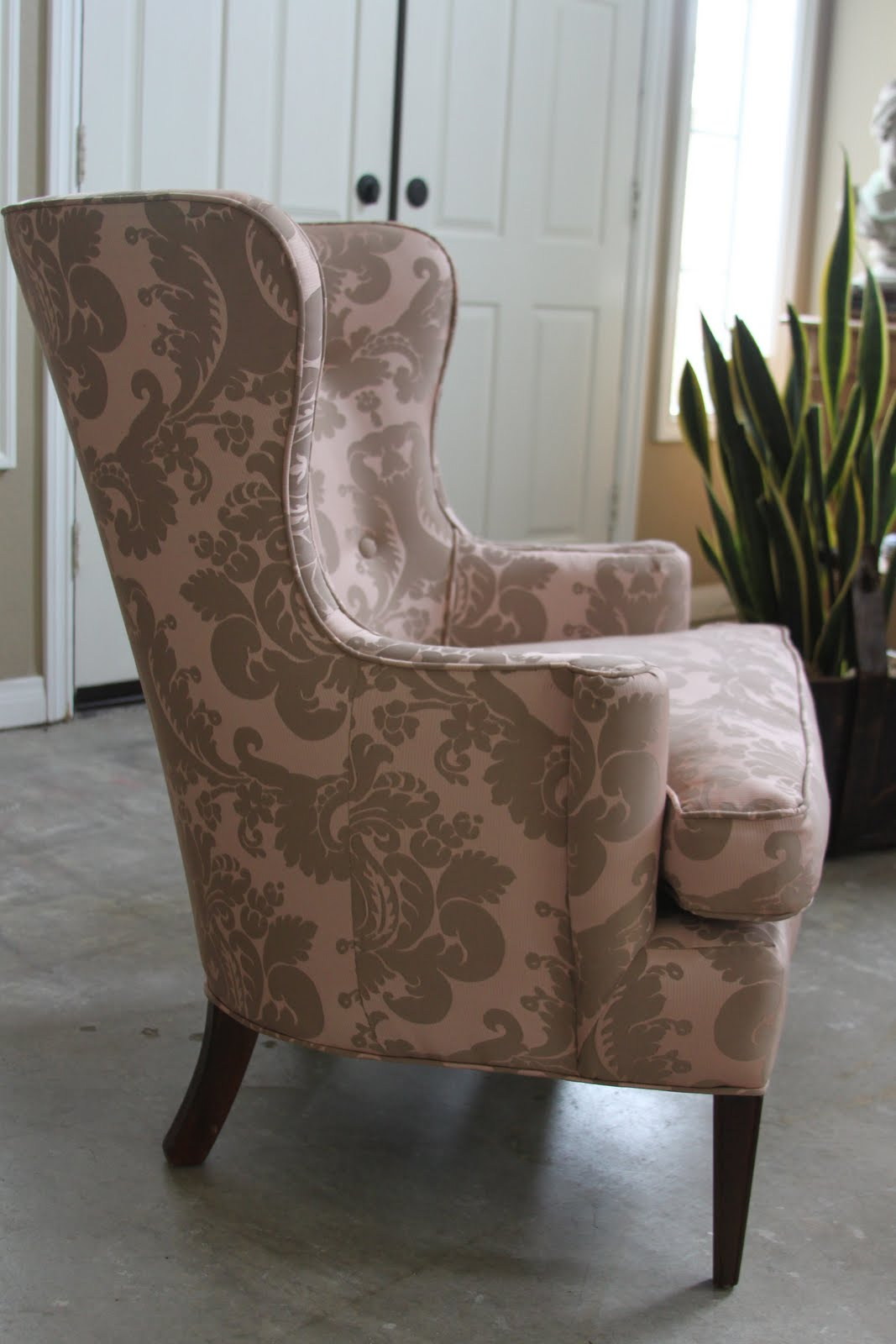 Mitchell Gold Slipcovers With Shabby Chic For Wingback Chairs Plus Intended For Mitchell Arm Sofa Chairs (Image 20 of 25)