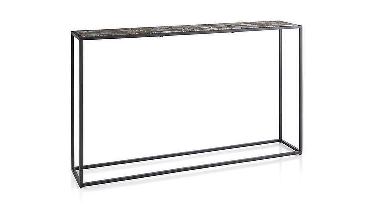Mix Agate Black Metal Frame Console Table Intended For Latest Mix Agate Metal Frame Console Tables (View 1 of 25)