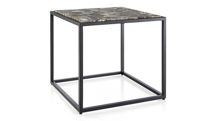 Mix Agate Low Metal Frame Side Table With Well Known Mix Agate Metal Frame Console Tables (Image 16 of 25)