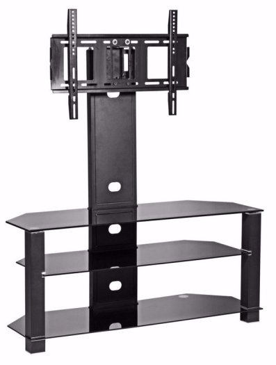 Mmt Cantilever Glass Tv Stand Swivel Bracket For 32 To 55 Inches Regarding Latest Cantilever Glass Tv Stand (Image 14 of 25)