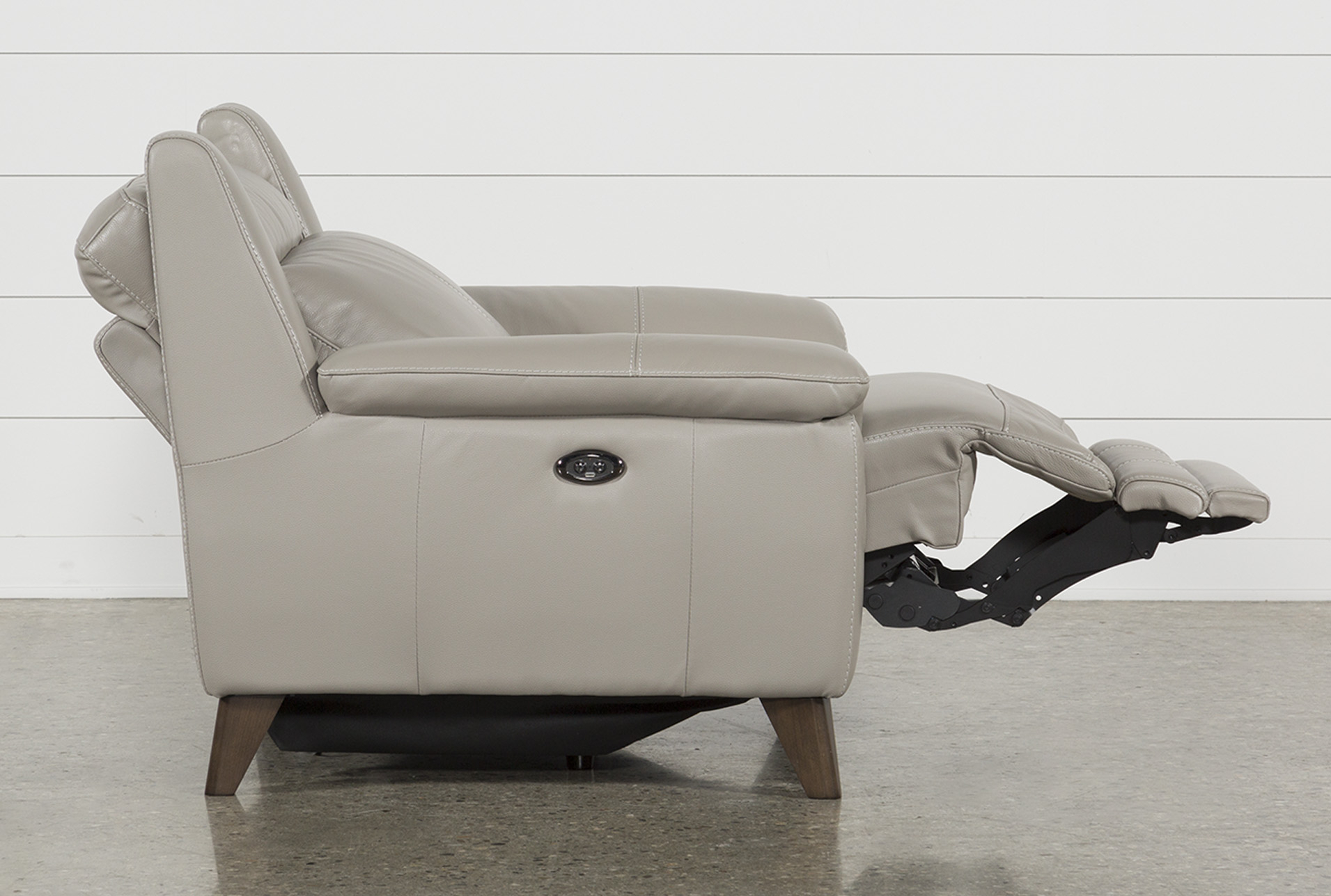 Moana Taupe Leather Power Reclining Chair With Usb   Products For Moana Taupe Leather Power Reclining Sofa Chairs With Usb (Image 21 of 25)