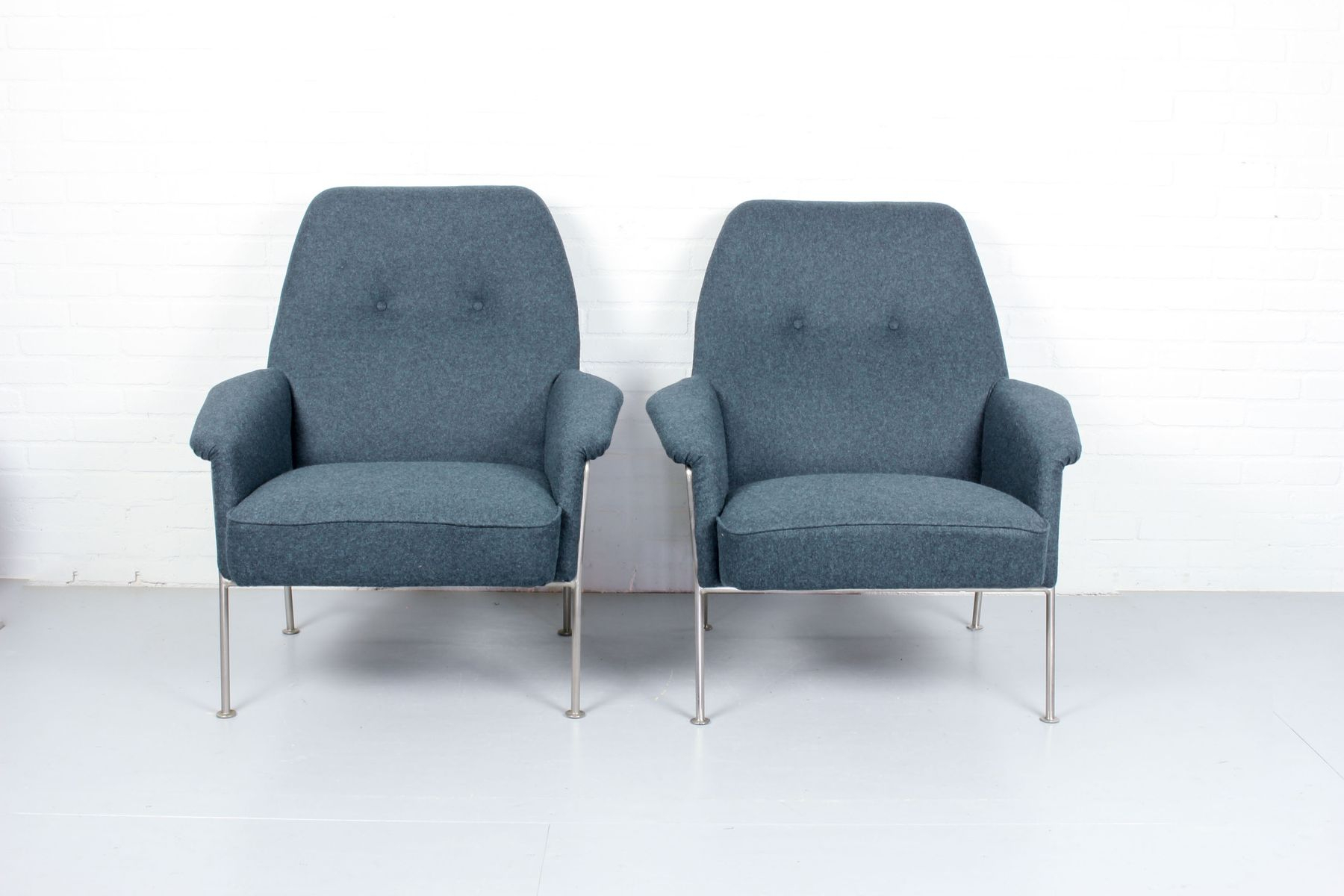 Model 162 Lounge Chairstheo Ruth For Artifort, 1950S, Set Of 2 Within Theo Ii Swivel Chairs (Image 14 of 25)