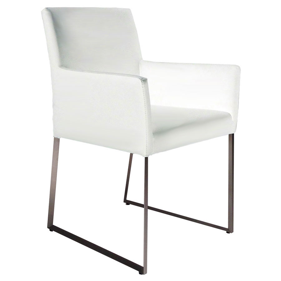Modern Dining Chairs | Tobias White Arm Chair | Eurway Inside Tate Arm Sofa Chairs (Image 10 of 25)