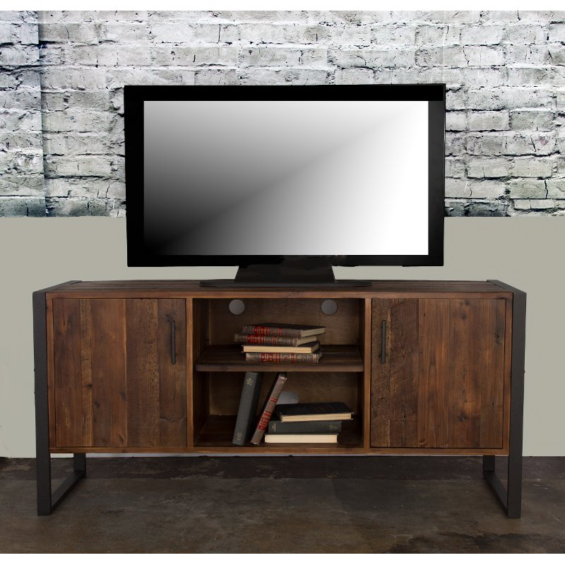 Modern Industrial Wood Tv Stand (60 Inch) – Brixton (Image 7 of 25)