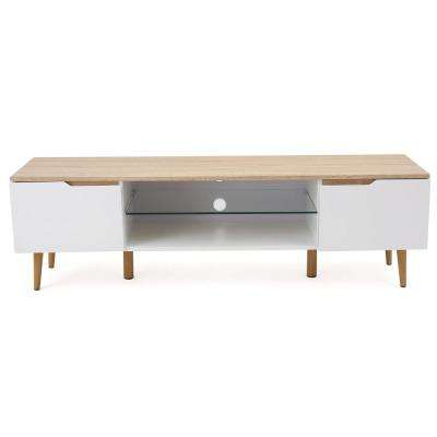 Modern – Noble House – White – Furniture – The Home Depot Inside Preferred Kilian Grey 74 Inch Tv Stands (Image 10 of 25)