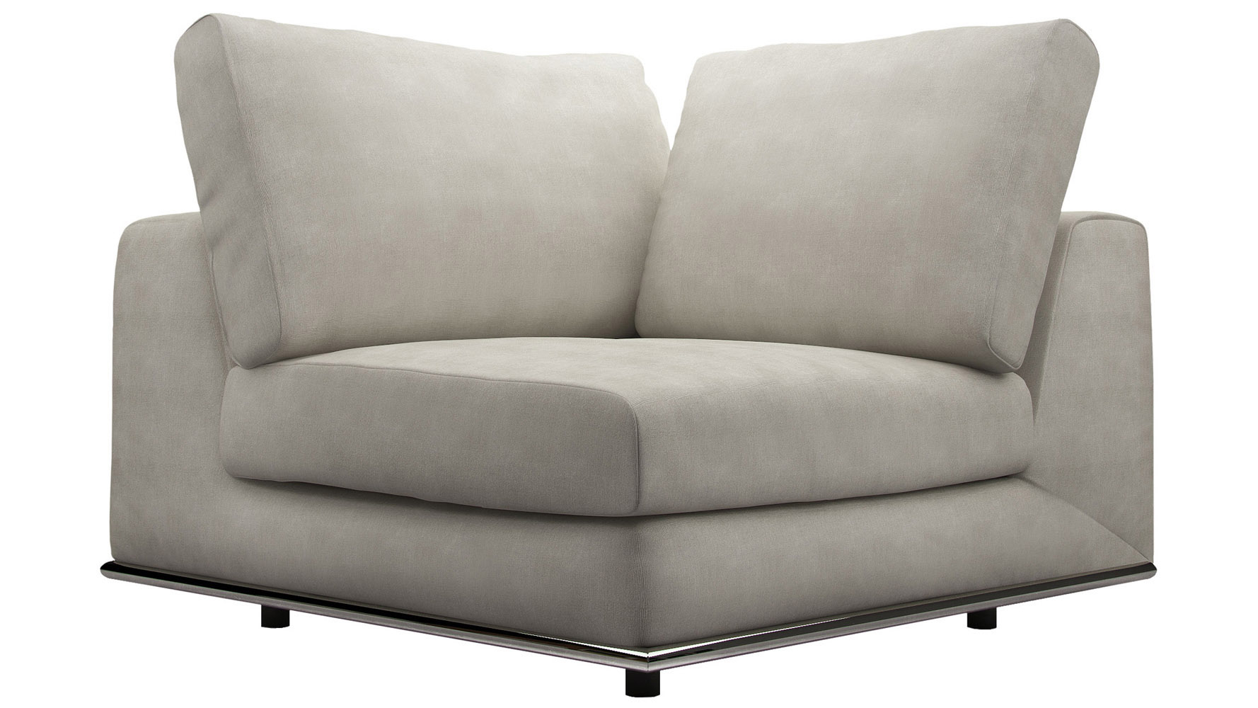 Modern Persis Corner Sofa Chair | Zuri Furniture With Regard To Lucy Grey Sofa Chairs (Image 20 of 25)