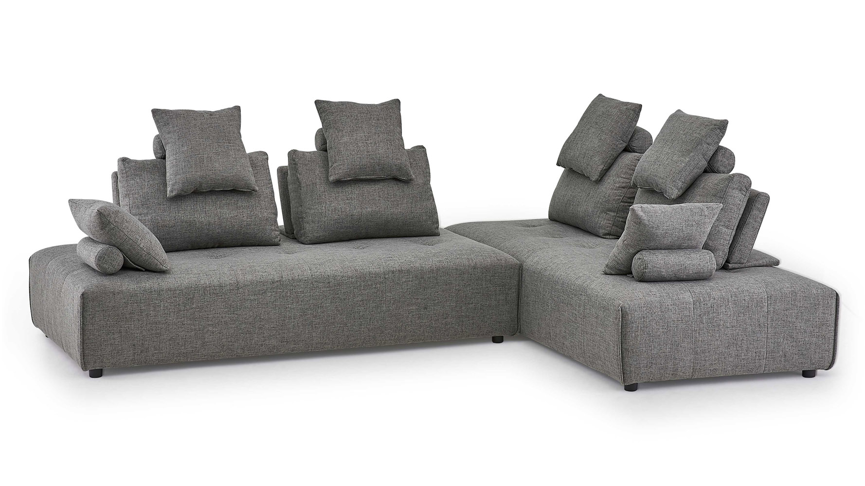 Modern Sectionals; Contemporary Sectionals | Zuri Furniture Within Lucy Dark Grey Sofa Chairs (View 9 of 25)