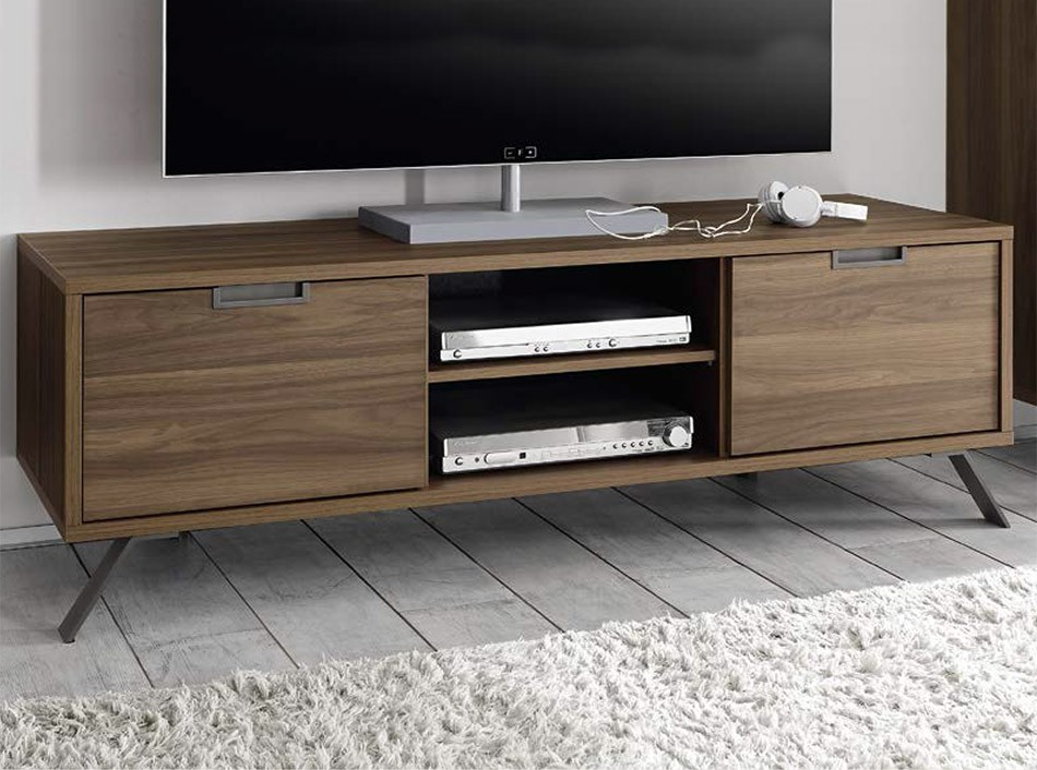 Modern Tv Stand Palma Walnutlc Mobili – Tv Stands – Living Room Throughout Newest Sideboard Tv Stands (View 2 of 25)