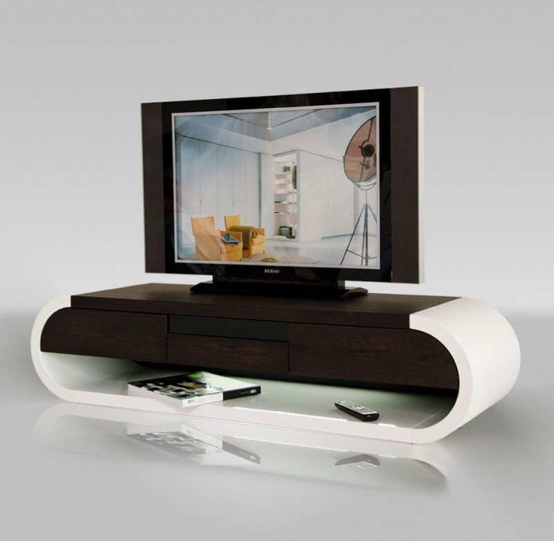Modern Tv Stands For Flat Screens – Ideas On Foter Within Well Liked Oval White Tv Stand (View 12 of 25)