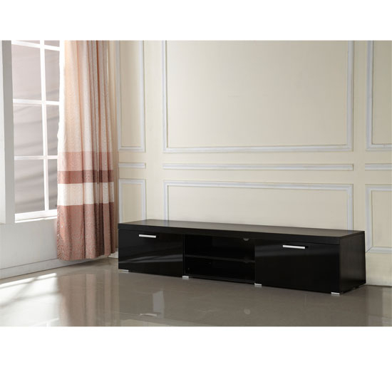 Modern Tv Unit Cabinet 2 Meter Long 2 Door Tv Stand Board Plasma Within Preferred Modern Low Tv Stands (Image 16 of 25)