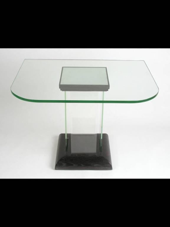 Modernage Glass Console, Dinette Table For Sale At 1Stdibs Throughout Well Known Era Glass Console Tables (Image 13 of 25)