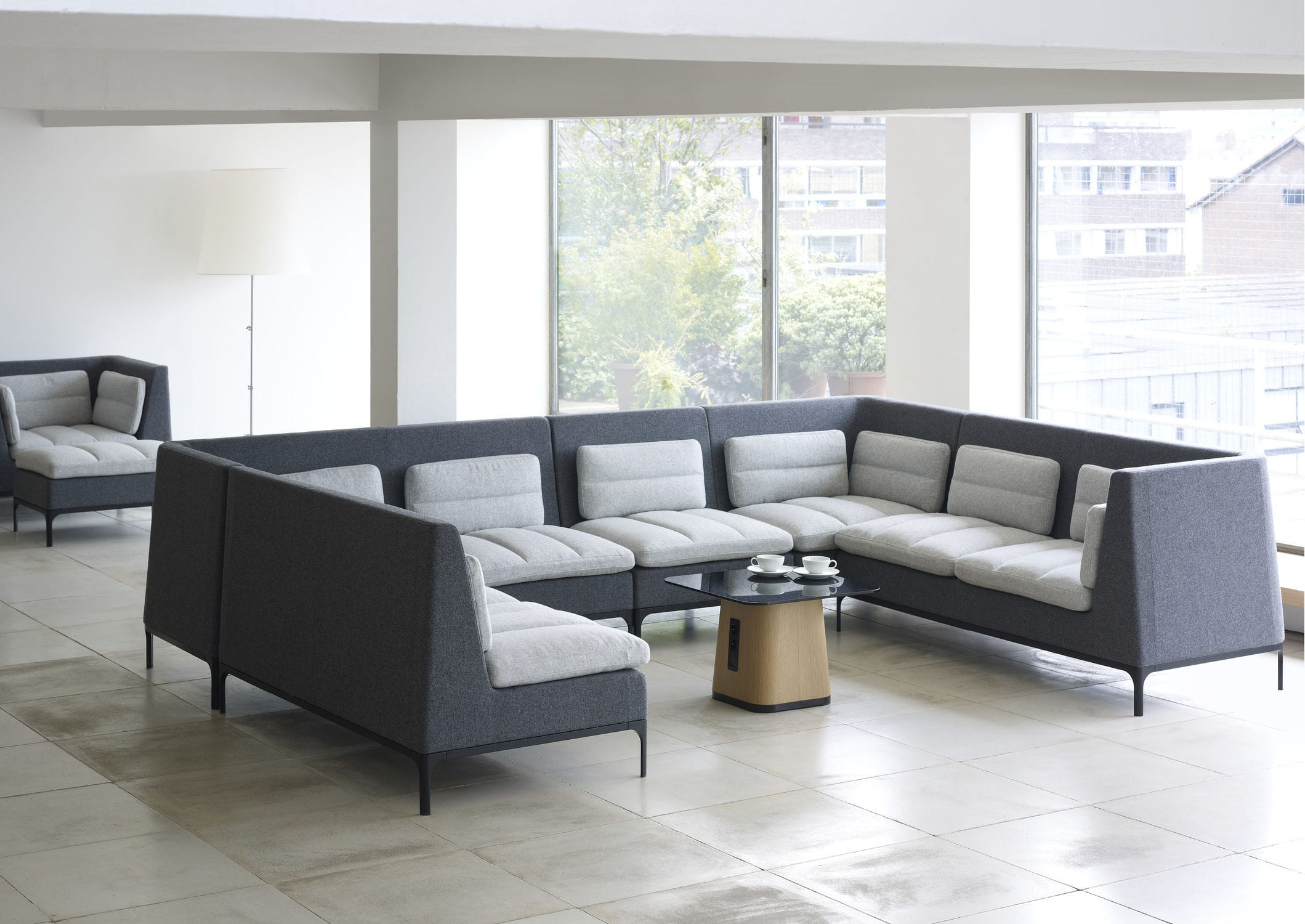 Modular Sofa / Contemporary / Aluminum / Fabric - Havenmark with Haven Sofa Chairs