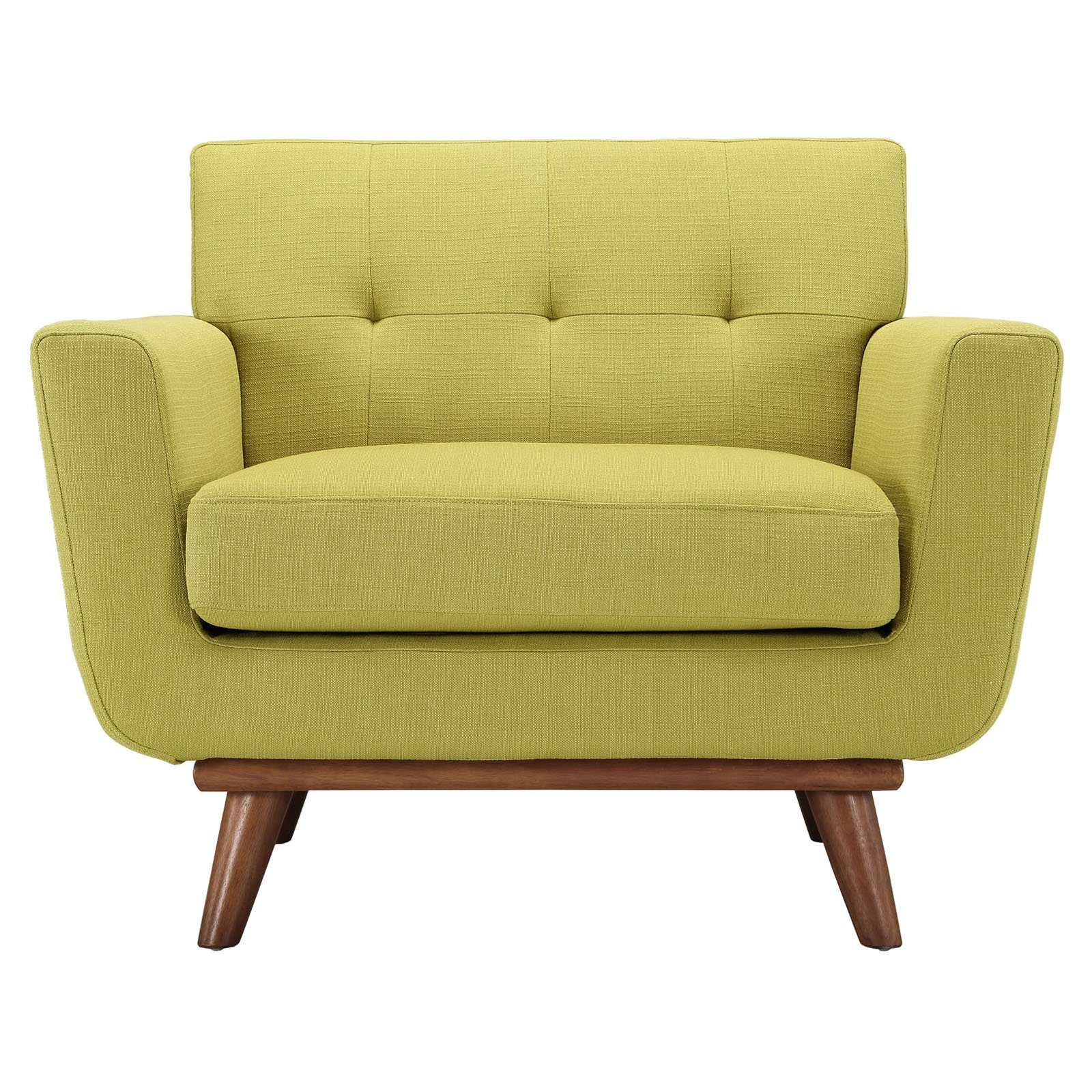 Modway Engage Wood Armchair – Walmart Within Gina Grey Leather Sofa Chairs (Image 19 of 25)