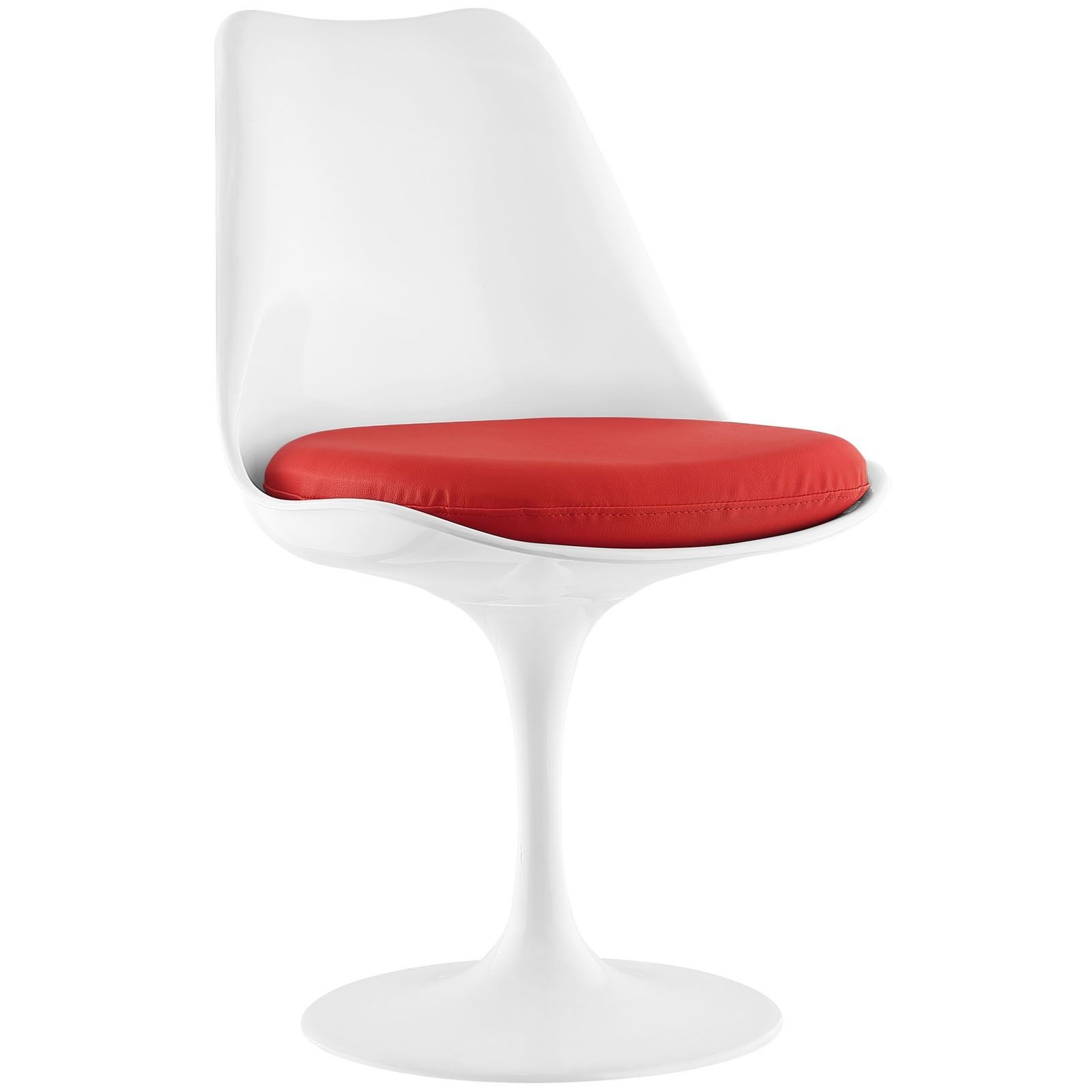 Modway Lippa Vinyl Dining Side Chair (Red) (Plastic) | Products Intended For Circuit Swivel Accent Chairs (View 15 of 25)