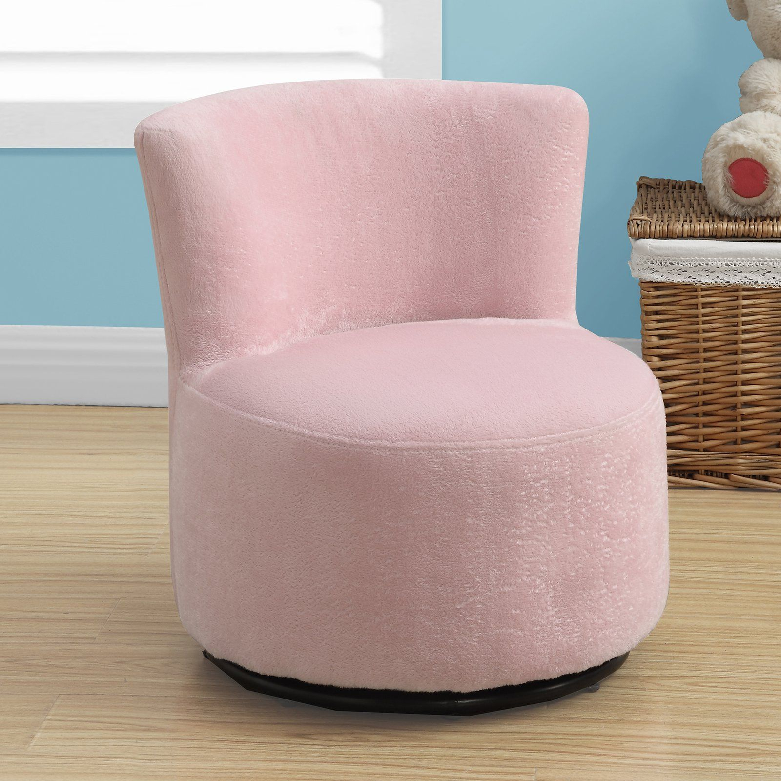 Monarch Kids Swivel Chair – Fuzzy Pink In 2018 | Products Inside Twirl Swivel Accent Chairs (Image 11 of 25)