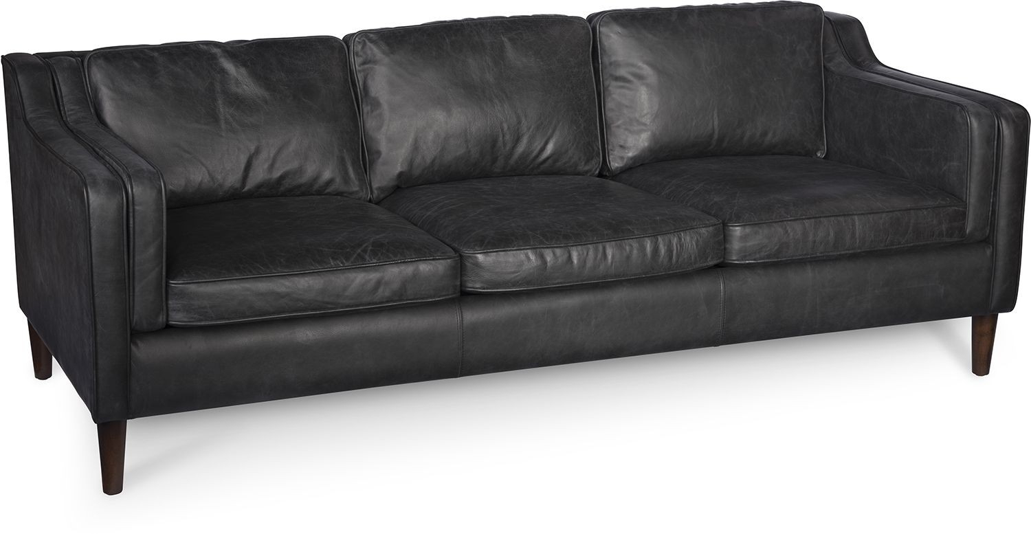 Morgan Sofa Oxford Black In Gina Blue Leather Sofa Chairs (Image 17 of 25)