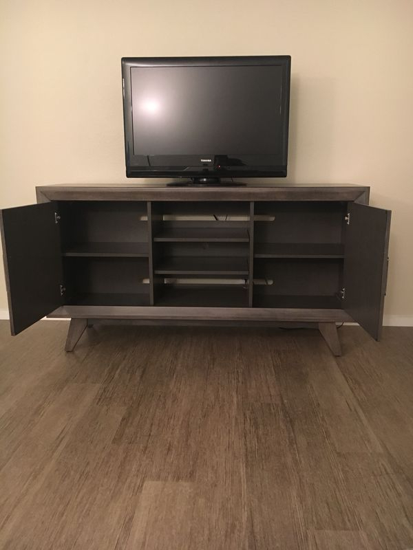 Most Current Abbott Driftwood 60 Inch Tv Stands Intended For Abbott Driftwood 60 Inch Tv Stand, 5 Months Old! For Sale In San (View 6 of 25)