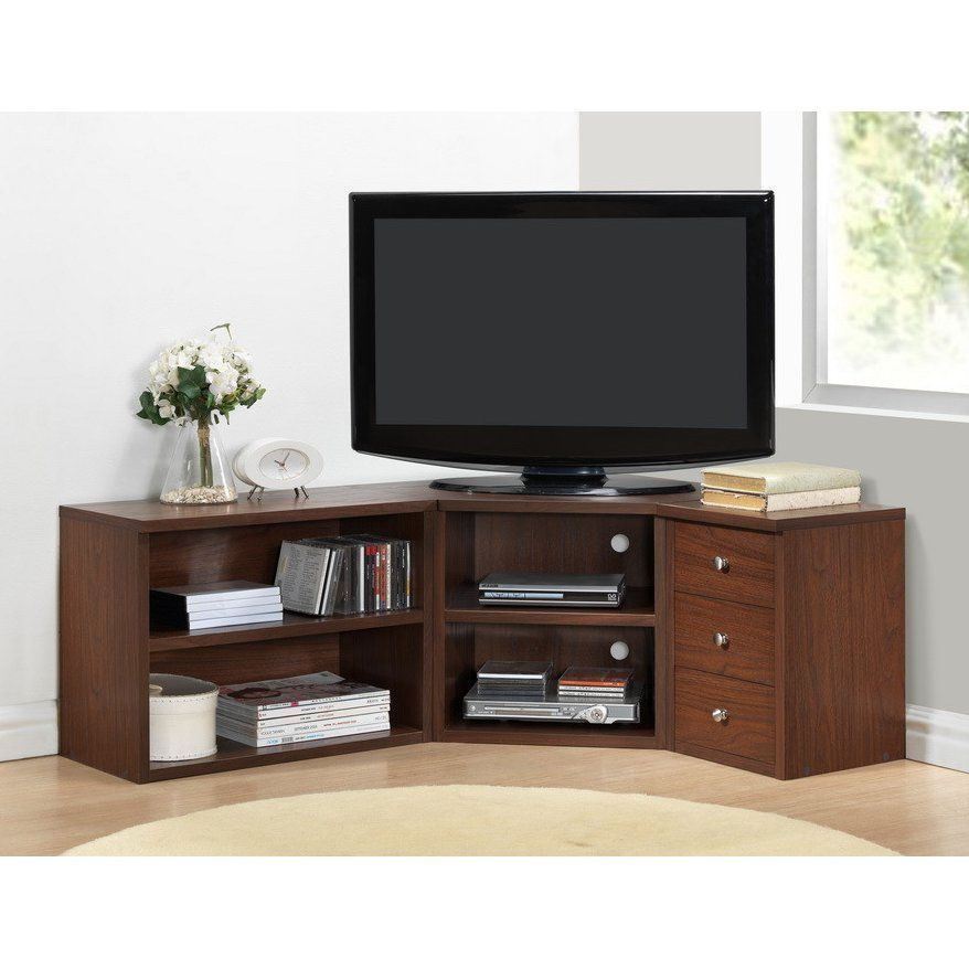 Most Current Flat Screen Tv Stands Corner Units Throughout Corner Tv Stand Wood Flat Screen Entertainment Center Media Console (Image 13 of 25)