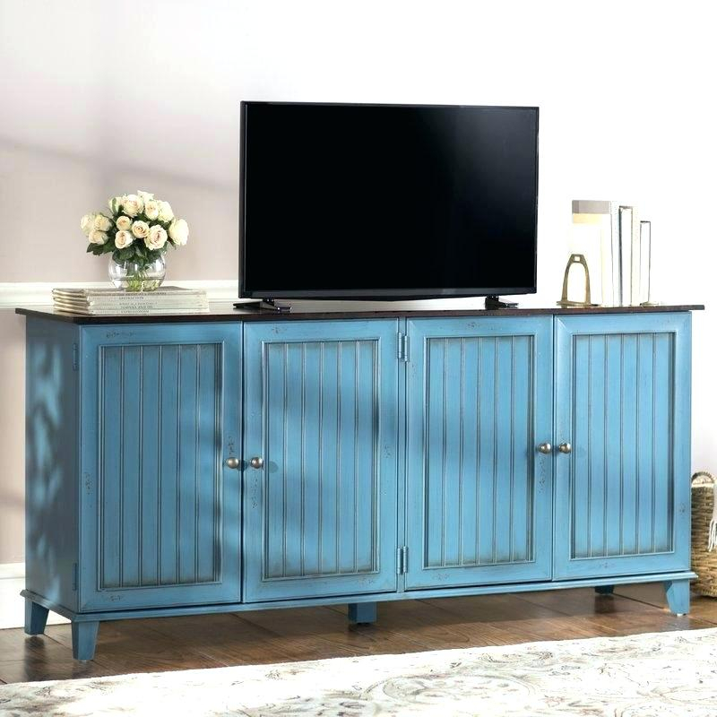 Most Current Lockable Tv Stands Throughout Blue Tv Stand Blue Stand Amazon Martin Home Furnishings Eclectic (Image 8 of 25)