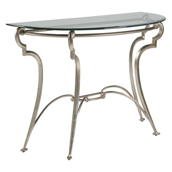 Most Current Mix Patina Metal Frame Console Tables Within Decorating With Metallics (Image 18 of 25)