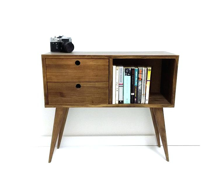 Most Current Oak & Brass Stacking Media Console Tables Throughout Mid Century Tv Console Oak Brass Stacking Media Console Mid Century (Image 12 of 25)