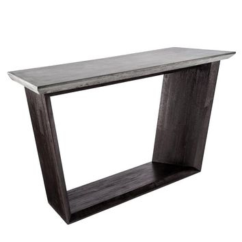 Most Current Parsons Grey Marble Top & Dark Steel Base 48X16 Console Tables In Concrete Top Console Table Tremendous Parsons Dark Steel Base 48X (Image 14 of 25)