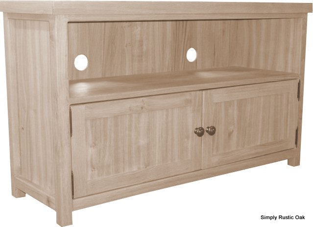Most Current Rustic Wood Tv Cabinets Pertaining To Handmade Bespoke Rustic Oak Tv Units – Simply Rustic Oak (Image 8 of 25)