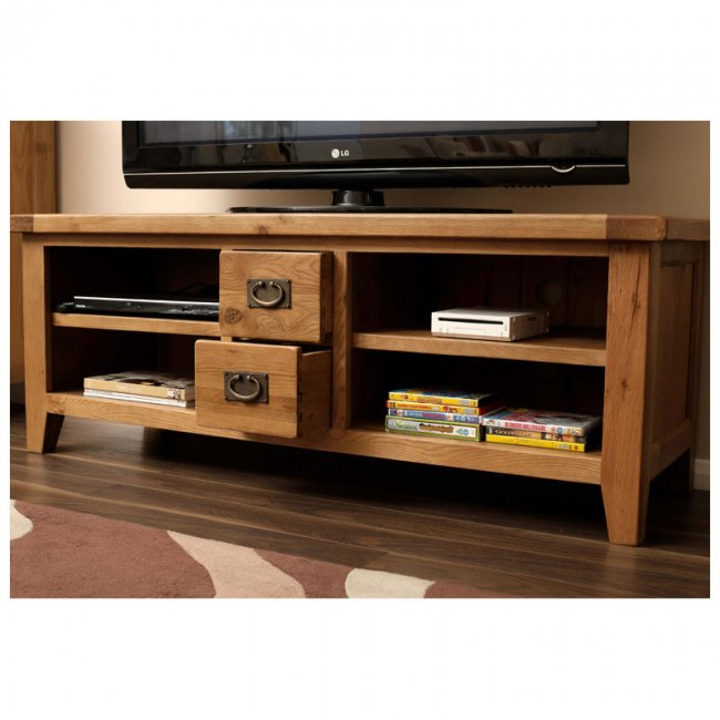 Most Current Rustic Wood Tv Cabinets Within Rustic Oak Tv Cabinet (Image 9 of 25)