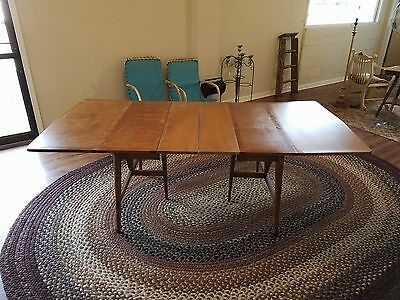 Most Current Wakefield 85 Inch Tv Stands for Haywood Wakefield Mid Century Drop Leaf Dining Table - $300.00