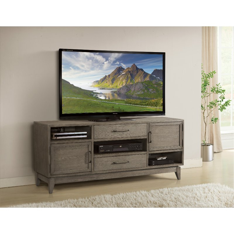 Most Popular Draper 62 Inch Tv Stands Throughout Washed Gray Transitional 65 Inch Tv Stand – Vogue (Image 8 of 25)