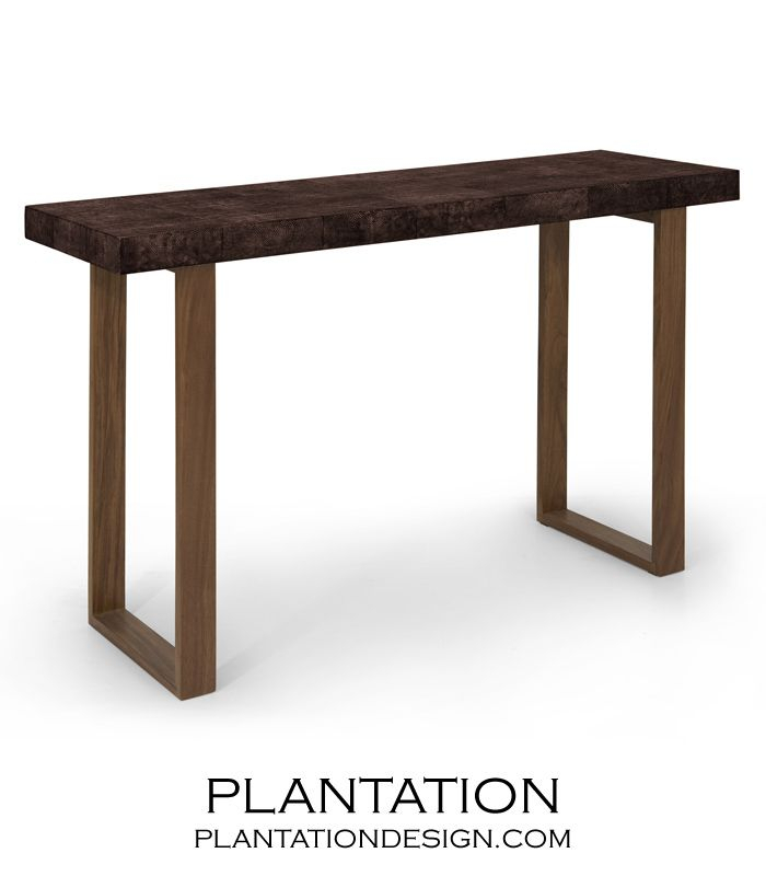 Most Popular Grey Shagreen Media Console Tables With Regard To Backbone Faux Shagreen Console (Image 14 of 25)