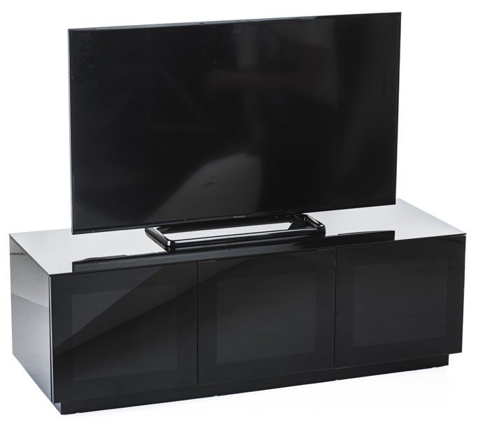 Most Popular High Gloss Tv Cabinets With Regard To Frank Olsen Chic 140 High Gloss Black 1400Mm Tv Cabinet (View 20 of 25)