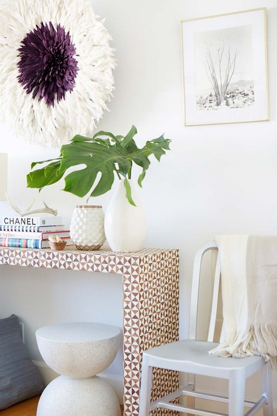 Most Popular Intarsia Console Tables With Merging His And Hers Styles In The Home With Crate And Barrel (Image 18 of 25)