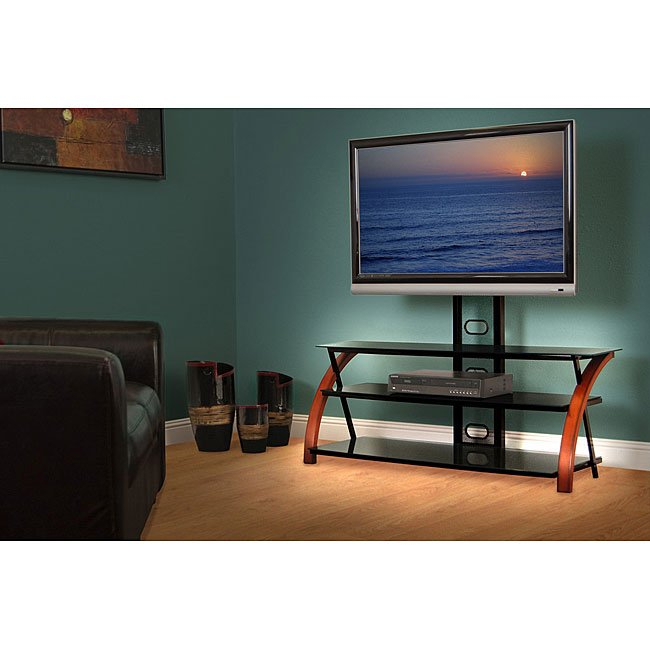 Most Popular Maddy 60 Inch Tv Stands Pertaining To Shop Avista Titan Brown 55 In Wide Tv Stand With Multi Purpose (View 14 of 25)