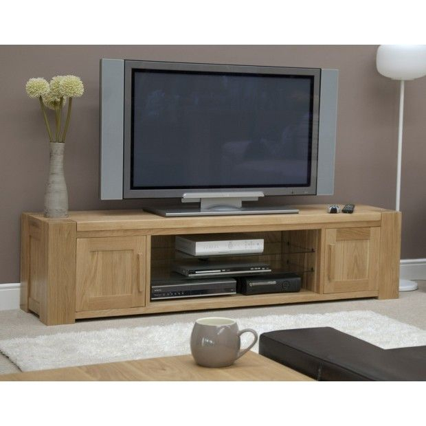 Most Popular Oak Furniture Tv Stands With Trend Solid Oak Large Plasma/tv Unit (View 16 of 25)