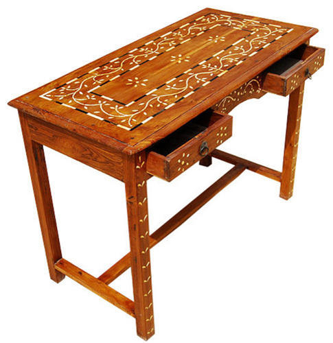 Most Popular Orange Inlay Console Tables Pertaining To Bone Inlay Writing Console Table, Rs 47800 /piece, Spider India (Image 14 of 25)