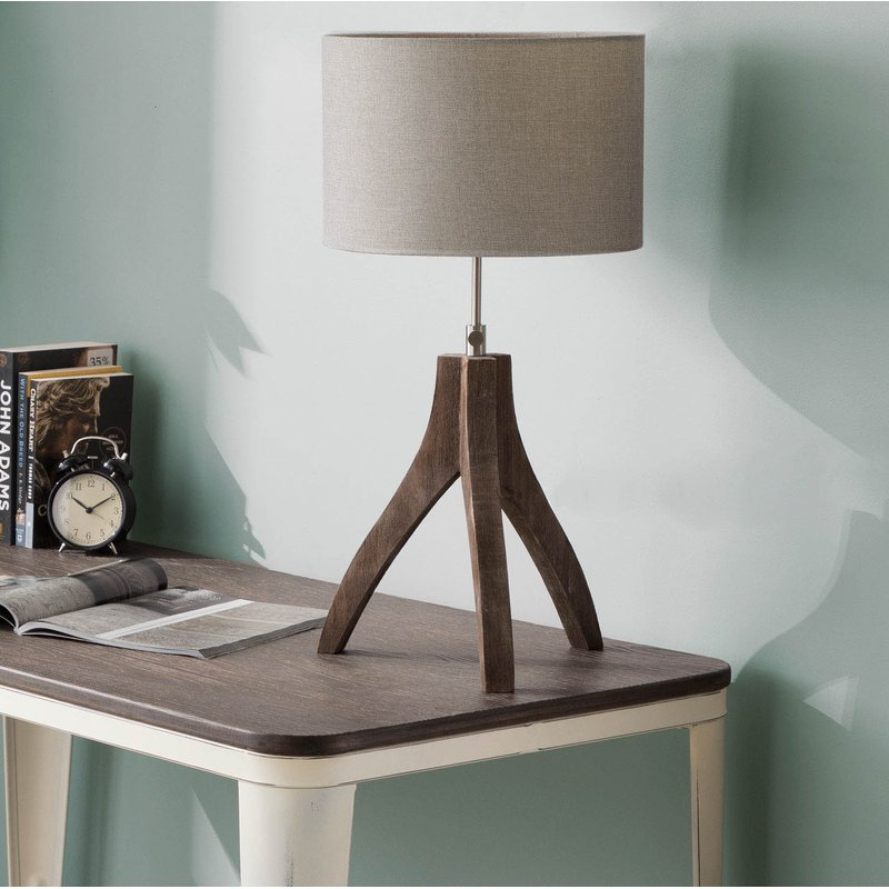 "Most Popular Scattered Geo Console Tables Regarding 17 Stories Adelmo 25"" Tripod Table Lamp (Image 20 of 25)"