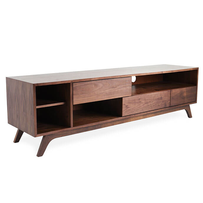 Most Popular Sideboard Tv Stands With Regard To Monroe Mid Century Modern Tv Stand (Image 18 of 25)