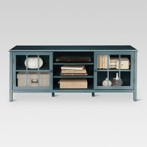 Most Popular Sinclair Blue 64 Inch Tv Stands For Blue Tv Stand Wood Blue Wooden Tv Stand (Image 10 of 25)
