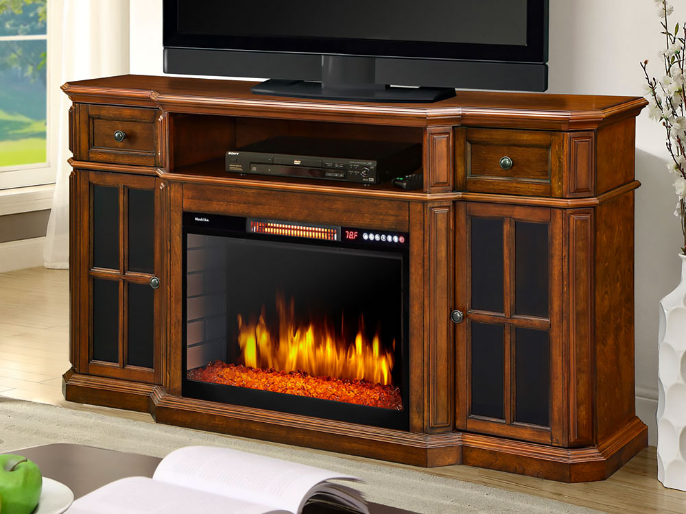 Most Popular Sinclair Grey 54 Inch Tv Stands Throughout Electric Fireplace Tv Stands (View 14 of 25)