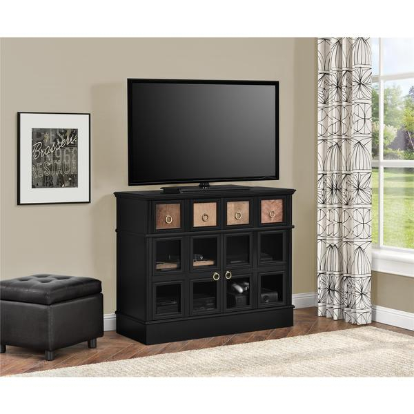 Most Popular Wakefield 97 Inch Tv Stands For Shop Avenue Greene Wakefield Apothecary 42 Inch Black Tv Console (Image 13 of 25)