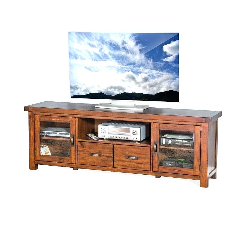 Most Popular Walton 74 Inch Open Tv Stands With Regard To 74 Tv Console Harbor View Linen Entertainment Wall With Console (Image 14 of 25)
