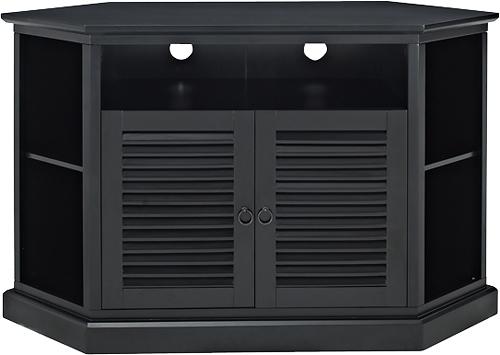 "Most Recent Black Corner Tv Stands For Tvs Up To 60 Inside Walker Edison Tv Cabinet For Most Tvs Up To 60"" Black Bb52Ccrbl (Image 15 of 25)"