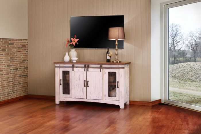"Most Recent Casey Umber 74 Inch Tv Stands For Ifd Pueblo 60"" Tv Stand In White Ifd360Stand  (Image 19 of 25)"