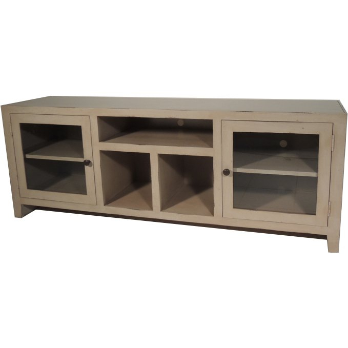 Most Recent Draper 62 Inch Tv Stands With Regard To 65 Inch Antique Distressed White Tv Stand (View 7 of 25)