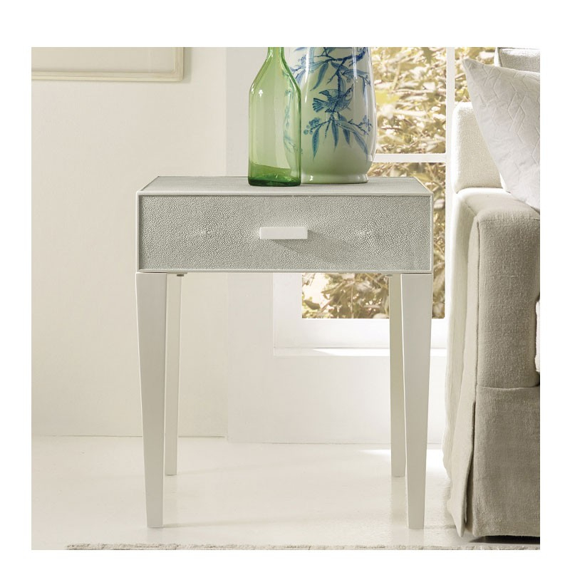 Most Recent Grey Shagreen Media Console Tables Pertaining To Shagreen End Table – Seafoam Grey (View 21 of 25)