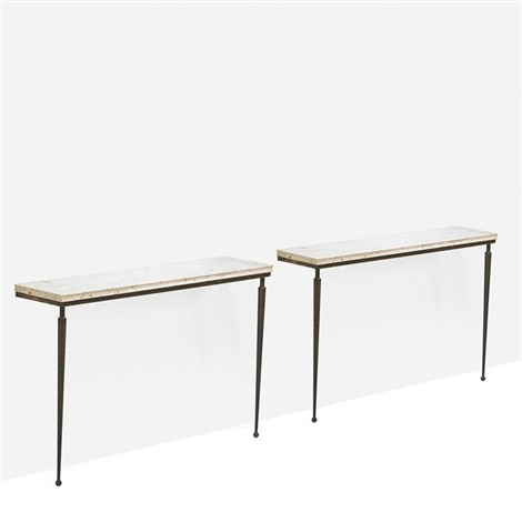 Most Recent Jacque Console Tables For Console Tables Pairjacques Adnet On Artnet (Image 19 of 25)