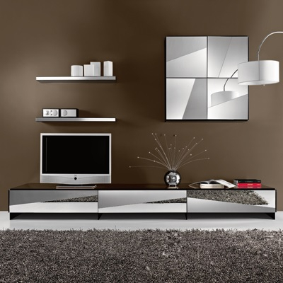 Most Recent Mirrored Furniture Tv Unit With Psiche Mirrored Low Tv Unit – Robson Furniture (Image 17 of 25)