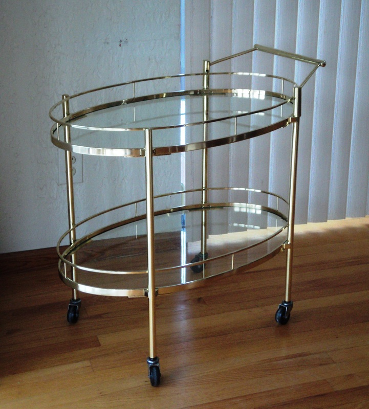Most Recent Phillip Brass Console Tables Throughout Maxwell Phillips Brass Cart – Julesmoderne (View 11 of 25)