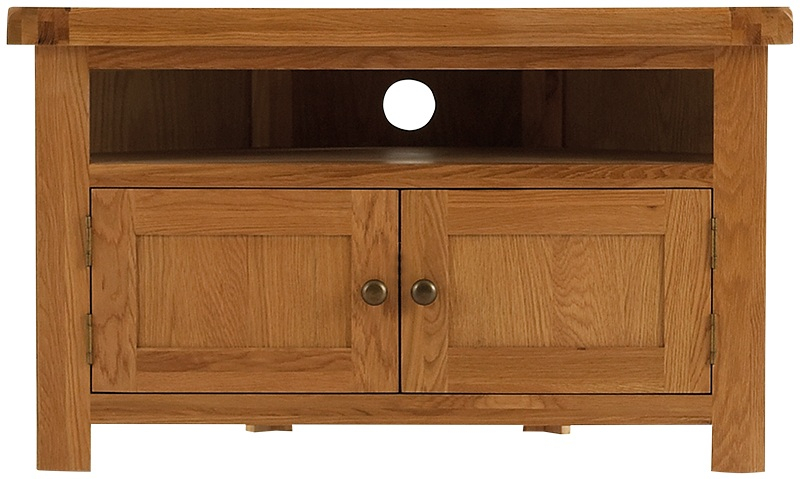 Most Recent Rustic Wood Tv Cabinets Throughout Tv Cabinets : Oldbury Rustic Oak Corner Tv Unitoldbury Rustic Oak (Image 11 of 25)